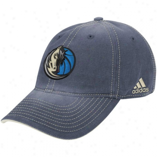 Mavericks Hat : Adidas Mavericks Ships Blue Lubber Adjustable Hat