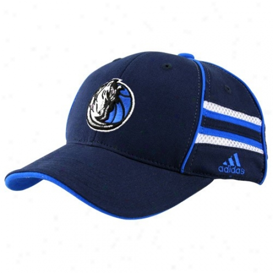Mavericks Hats : Adidas Mavericks Youth Navy Blue Pro Shape Flex Be proper Hats