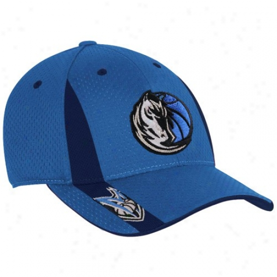 Mavs Hat : Adidas Mavs Youth Royal Blue Swingman Flex Fit Hat