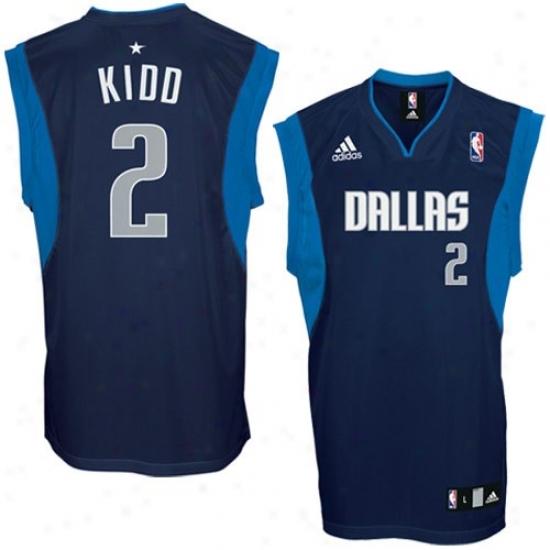 Mavs Jersey : Adidas Mavs #2 Jason Kidd Navy Livid Replica Basketball Jersey