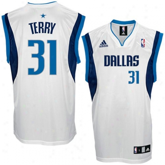 Mavs Jerseys : Adidas Mavs #31 Jason Terry White Replica Basketball Jersetss