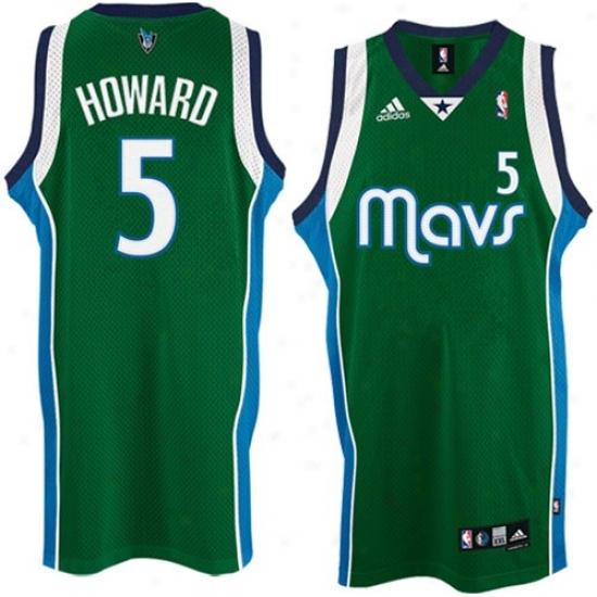 Mavs Jerseys  :Adidas Mavs #5 Josh Howaard Green 2nd Road Swingman Basketball Jerseys