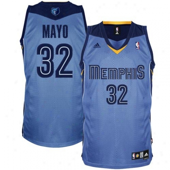 Memphis Grizzlie Jrsey : Adidas Memphis Grizzlie #32 O.j. Mayo Light Blue Swingman Basketball Jersey