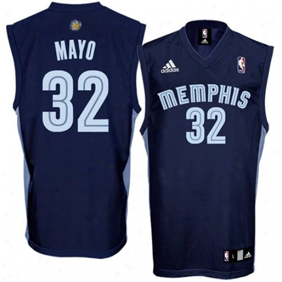 Memphis Grizzlie Jerseys : Adidas Memphis Grizzlie #32 O.j. Mayo Navy Blue Replica Basketball Jerseys