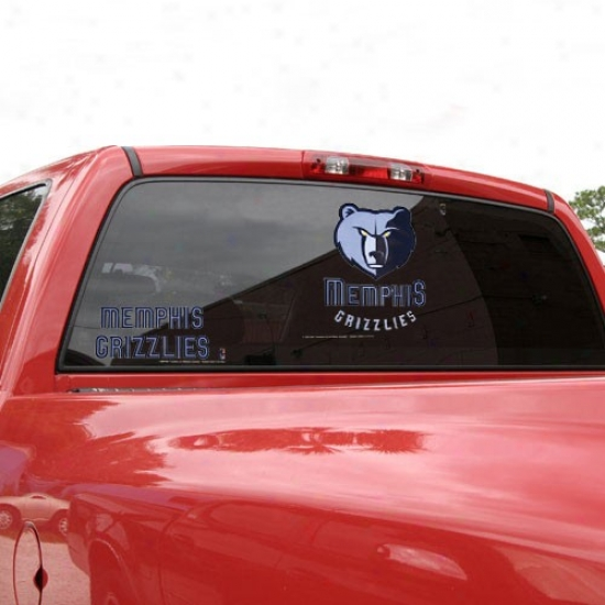 Memphis Grizzlies 11'' X 17'' Window Clings Sheet