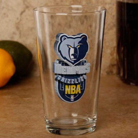 Memphis Grizzlies 17 Oz. Enhanced Hi-def Mixing Glass