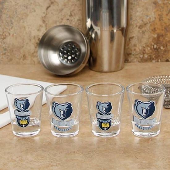 Memphis Grizzlies 4-pack Enhanced Capital Definitionn Design Shot Glass Set