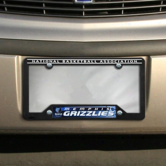 Memphis Grizzlies Black Plastic License Plate Frame
