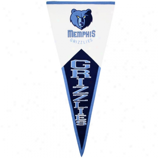 Memphis Grizzlies Classic Mascot Wool Pennant