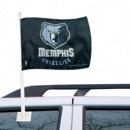 Memphis Grizzlies Flags : Memphis Grizzlies Black Car Flags