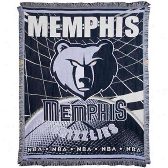 Memphis Grizzlies Jacquard Woven Blanket Throw
