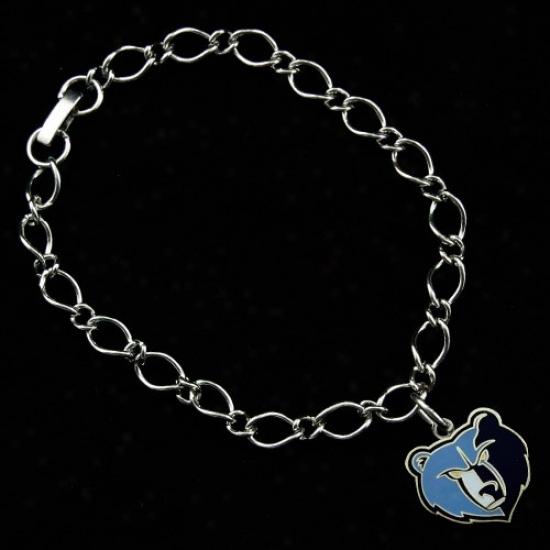 Memphis Grizzlies Ladies Silver-tone Charm Bracelet