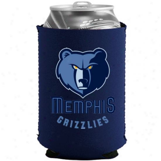Memphis Grizxlies Navy Blue Collapsible Can Coolie
