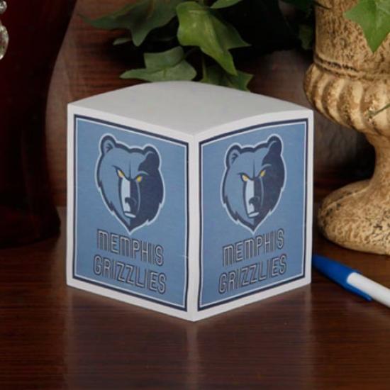 Memphis Grizzlies Note Cube