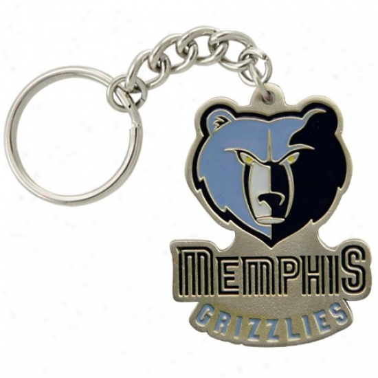 Memphis Grizzlies Pewter Primary Logo Keychain