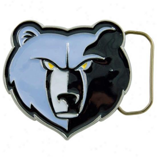 Memphis Grizzlies Pewter Team Logo Bel5 Buckle