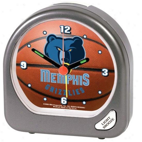 Memphis Grizzlies Plastic Aladm Clockk