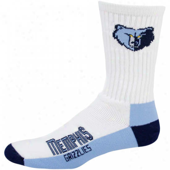 Memphis Grizzlies White Tri-color Team Logo Tall Socks