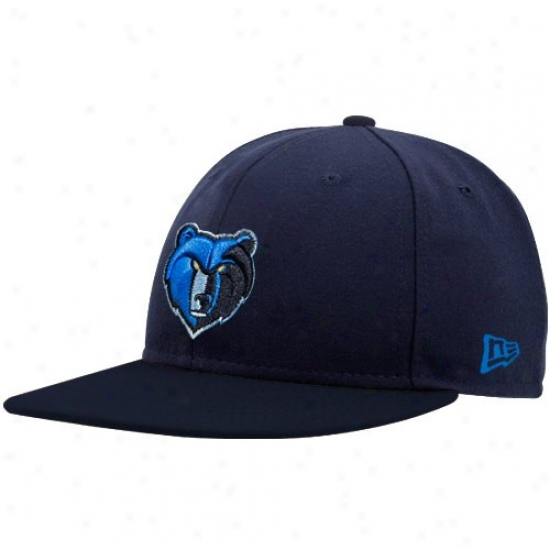 Memphis Grizzlys Hat : New Era Memphis Grizzlys Navy Pedantic  Logo 59fifty Fitted Hat
