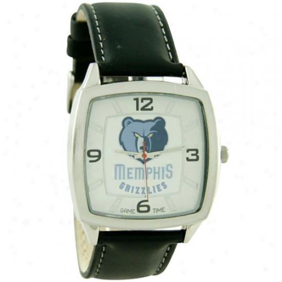 Memphis Grizzlys Wrist Mark : Memphis Grizzlys Retro Wrist Watch W/ Leather Band