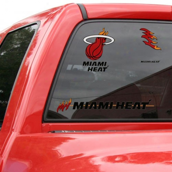 """miami Heat 11"""" X 17"""" Window Clings Sneet"""