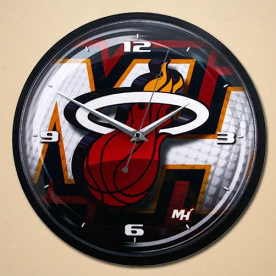 Miami Heat 12'' Wall Clock
