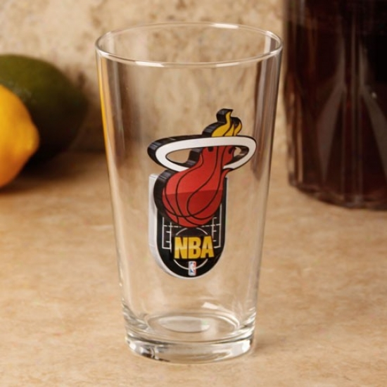 Miami Heat 17 Oz. Enhanced Hi-def Mixing Glass