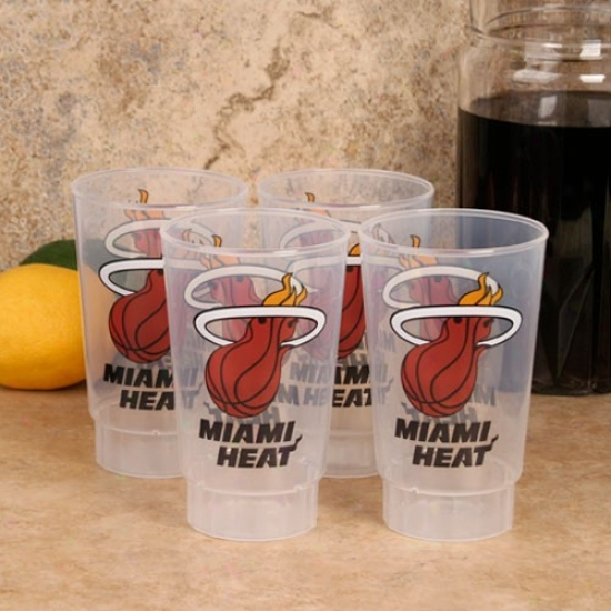 Miami Heat 4-pack 16oz. Plastic Cups