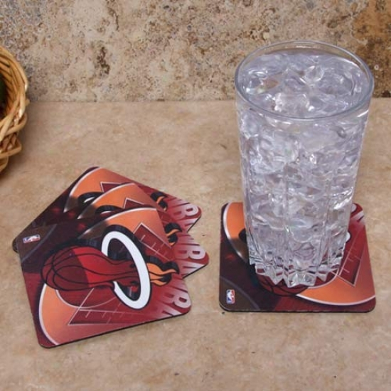 Miami Heat 4-pack Sublimated Logo Neoprehe Coaster Set