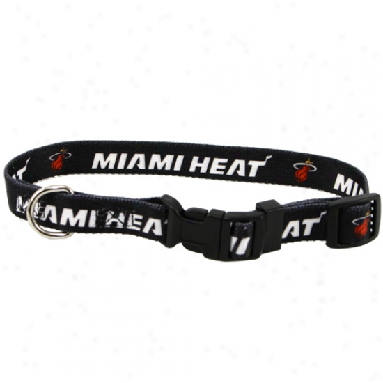 Miami Heat Adjustable Dog Collar