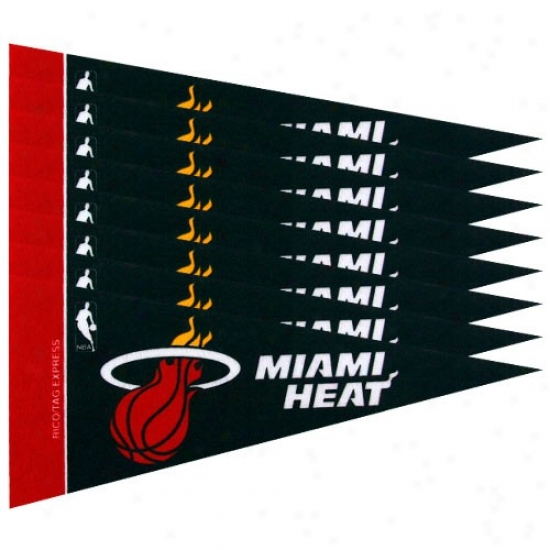 Miami Heat Black 8-pack Mini Pendant Set