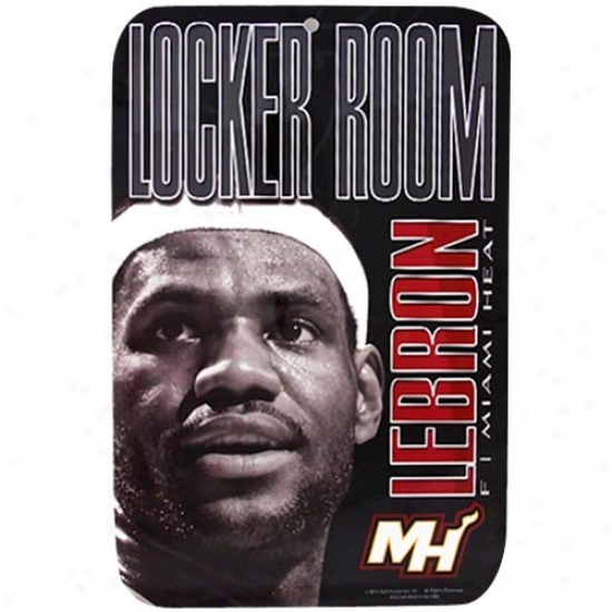 Miami Heat Black Lebron James Locker Room Sign