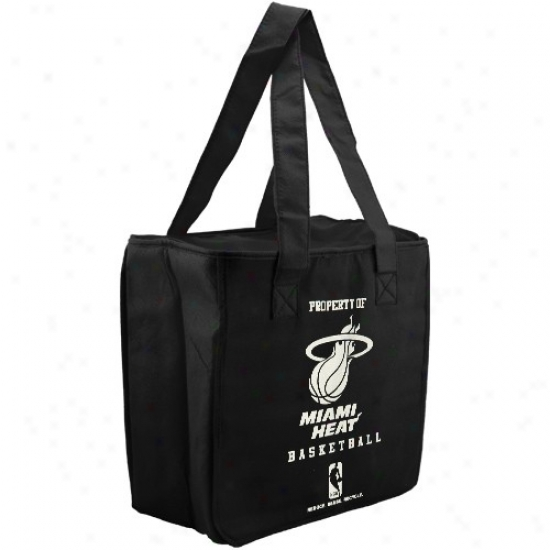Miami Heat Black Reusable Insulated Tote Bag
