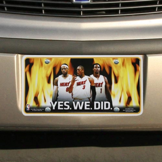 Miami Heat Bpack Yes. We. Did. Metal Laxity Plate