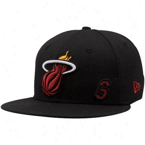 Miami Heat Caps : New Era Miami Heat Dark Lebron James 59fifty Fitted Caps