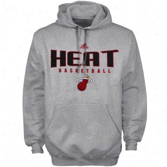 Miami Heat Fleece : Adidas Miami Heat Ash Absolute Fleece