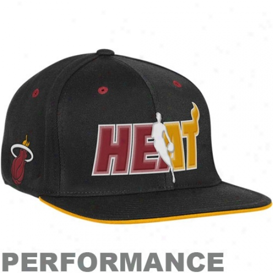 Miami Heat Gear: Adidws Miami Heat Black Official Draft Day Fitted Hat