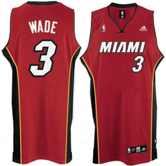 Miami Heat Jersey : Adidas Miami Heat #3 Dwyane Wade Rer 2nd Road Swingman Basketball Jersey