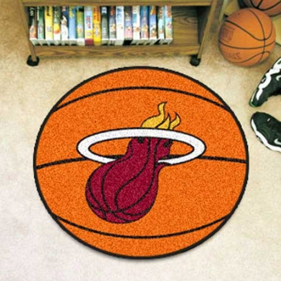 Miami Heat Orange Move about Basketball Mat