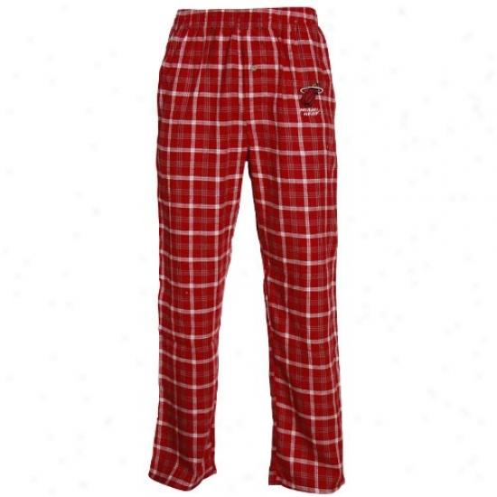 Miami Heat Red Tailgate Pajama Panfs
