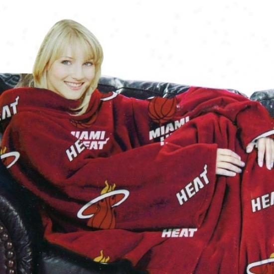 Miami Heat Red Team Logo Print Unisex Comfy Throw