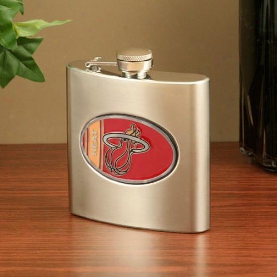 Miami Heat Stainless Steel Flask