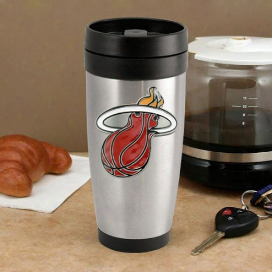 Miami Heat Stainleess Steel Team Logo Thermo Travel Acrobat