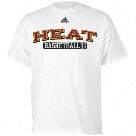Miami Heaat Tees : Adidas Miami Heat White Kappa Sigma Tees