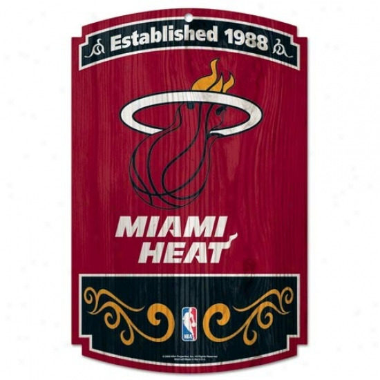 Miami Heat Wood Sign