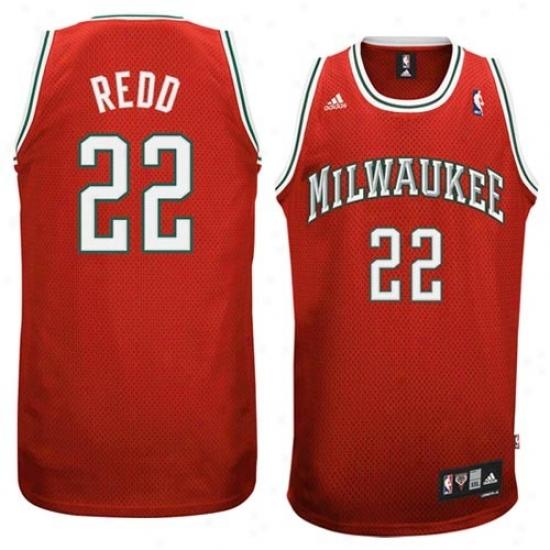 Milwaukee Buck Jersey : Adidas Milwaukee Buck #22 Michael Redd  Red Swingman Basketball Jersey