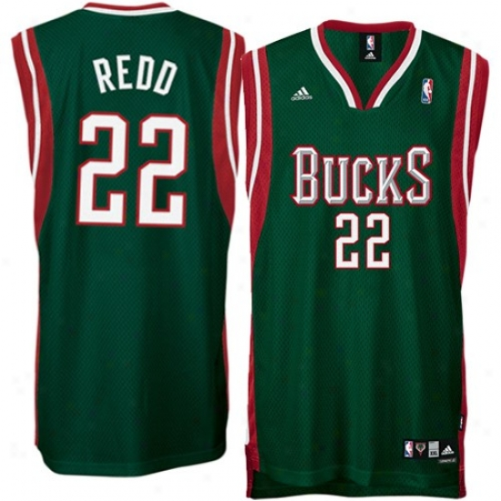 Milwaukee Buck Jersey : Adidas Milwaukee Buck #22 Michael Redd Green Swingman Basketball Jersey