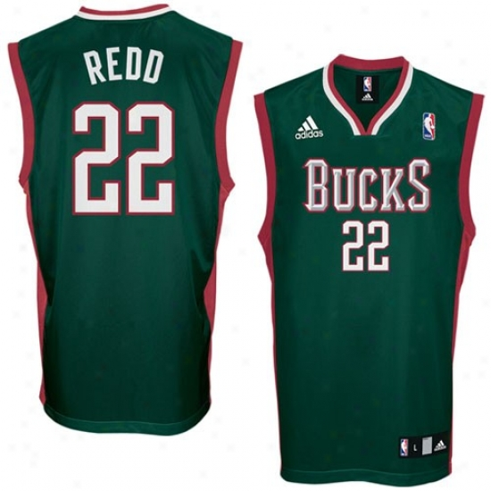 Milwaukee Buck Jerswys : Adidas Milwaukee Buck #22 Michael Redd Green Replic aBasketball Jerseys
