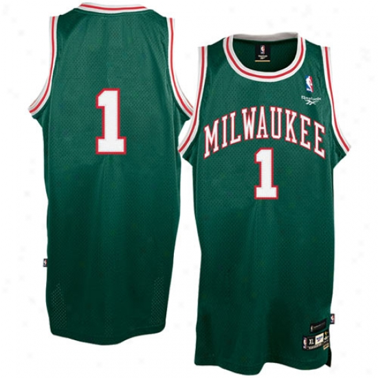 Milwaukee Buck Jerseys : Reebok Milwaukee Buck #1 Oscar Robertson Green Youth Soul Swingman Jetseys