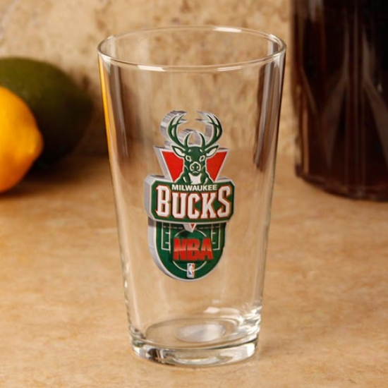 Milwaukee Bucks 17 Oz. Enhanced Hi-def Mixing Glqss